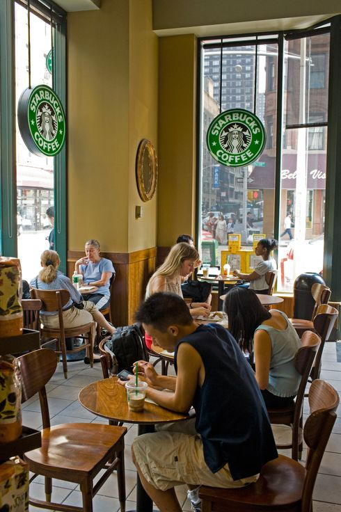 Manhattan, New York City, New York State, USA --- Starbucks --- Image by ? Atlantide Phototravel/Corbis