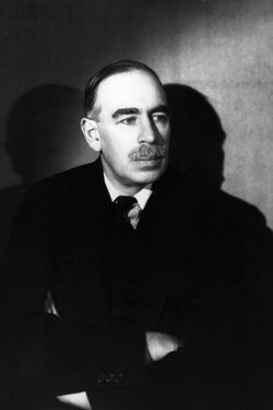 John Maynard Keynes (1883 - 1946) the British  economist and member of the Bloomsbury set. He pioneered the theory of full employment.  Original Publication: People Disc - HF0700   (Photo by Gordon Anthony/Getty Images)