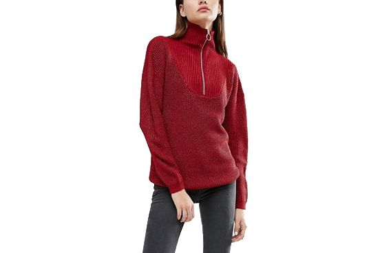 ASOS Zip Up Sweater