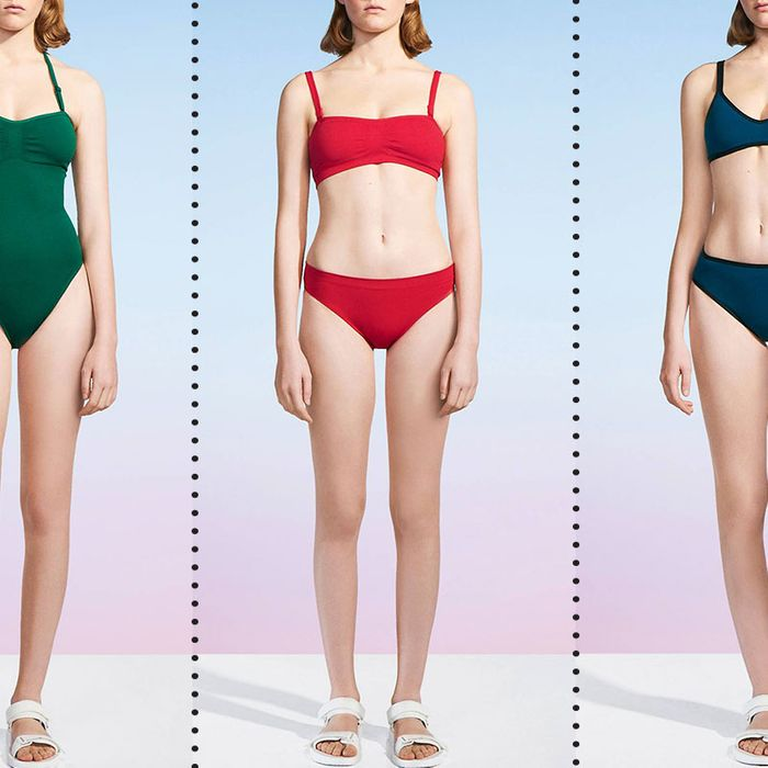 abfe676f18 A Bunch of Expensive-Looking Uniqlo U Bathing Suits Are on Sale for $20  Right Now