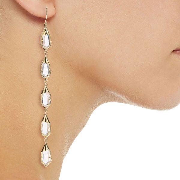 NOIR JEWELRY Hue gold-tone crystal earrings