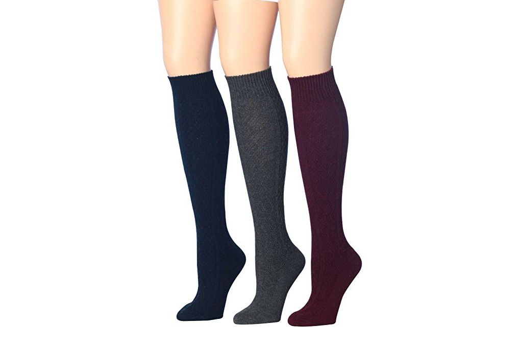 Tipi Toe Women's Three-Pair High-Wool Blend Calf Socks