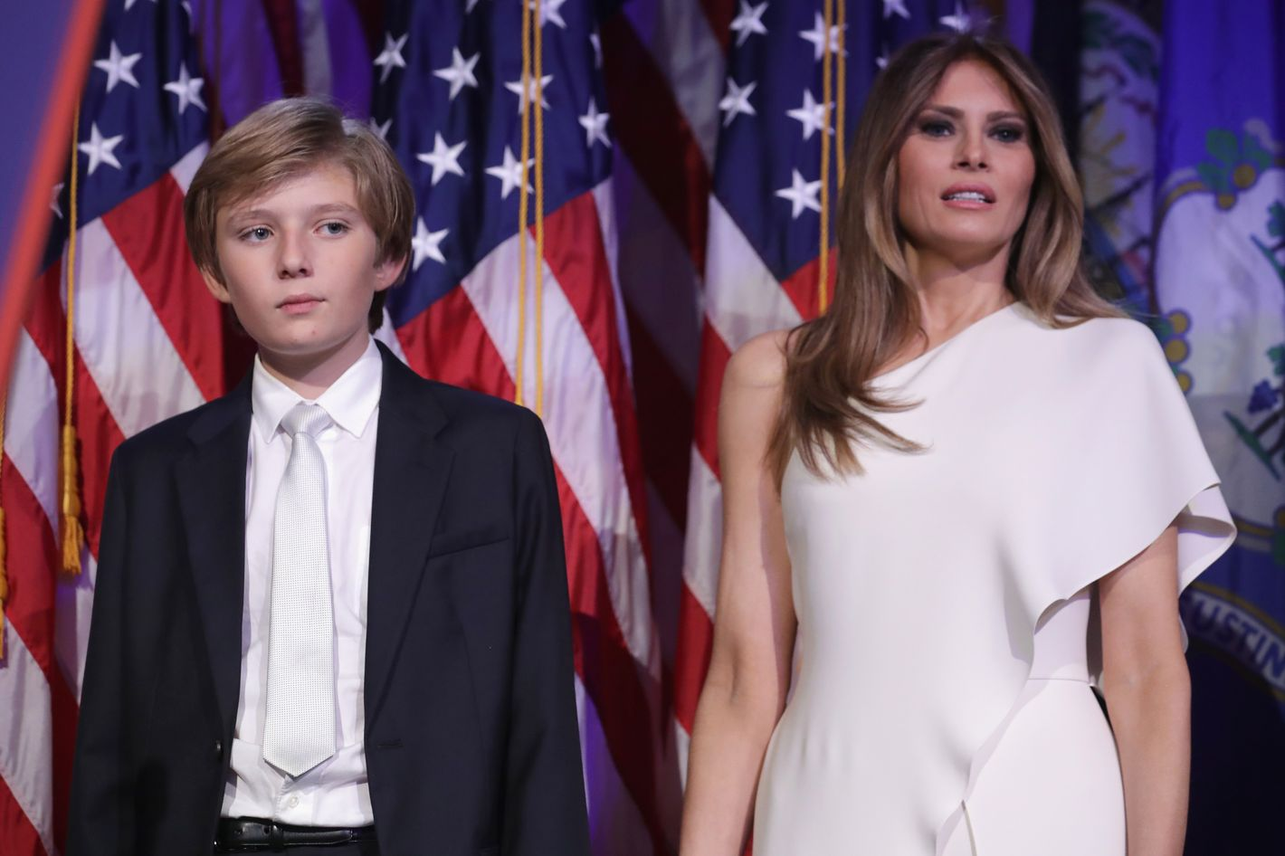 Melania And Barron Trump Will Stay In New York City