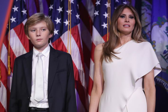 Melania, Barron Trump Will Not Move into White House After Inauguration