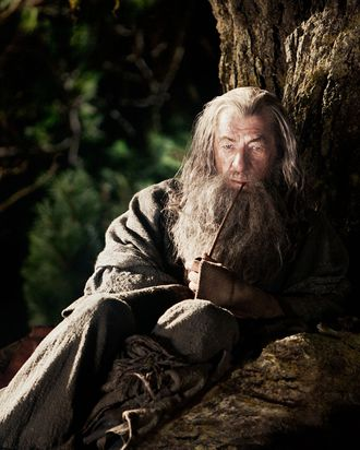 """IAN McKELLEN as Gandalf in New Line Cinema's and MGM's fantasy adventure """"THE HOBBIT: AN UNEXPECTED JOURNEY,"""" a Warner Bros. Pictures release."""