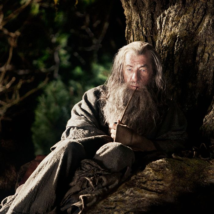 "IAN McKELLEN as Gandalf in New Line Cinema's and MGM's fantasy adventure ""THE HOBBIT: AN UNEXPECTED JOURNEY,"" a Warner Bros. Pictures release."