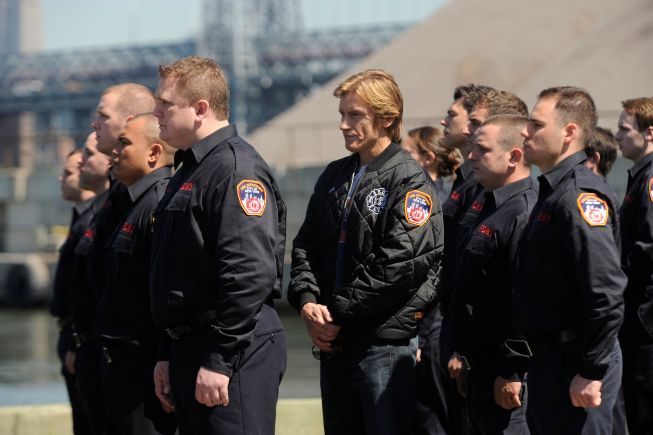 RESCUE ME: Denis Leary (Center) in RESCUE ME airing Wednesday, September 7 on FX. CR: Jeff Niera / FX