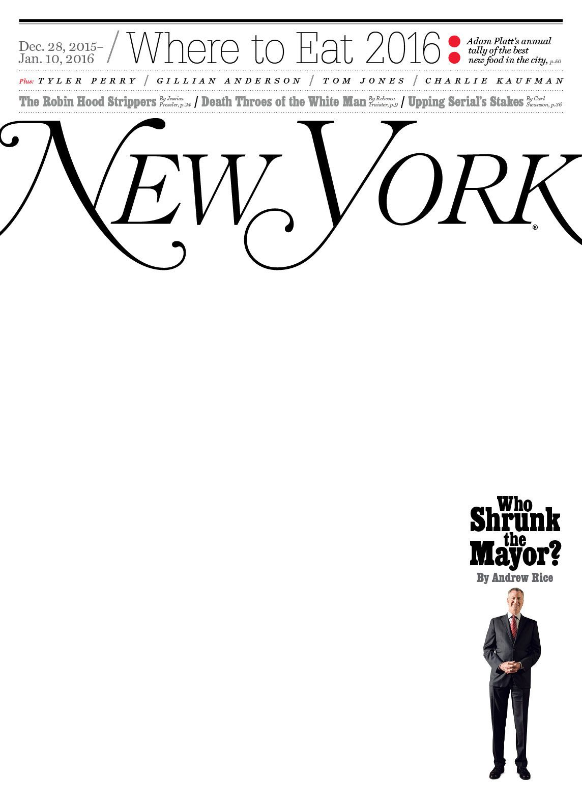 New York Magazine: December 28, 2015 Issue