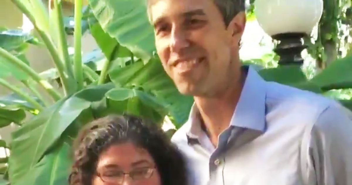 Here's Beto O'Rourke Petting a Bunny