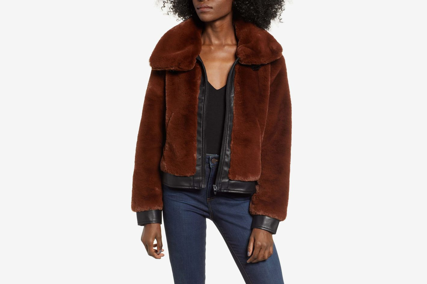 BLANKNYC Faux Fur Jacket