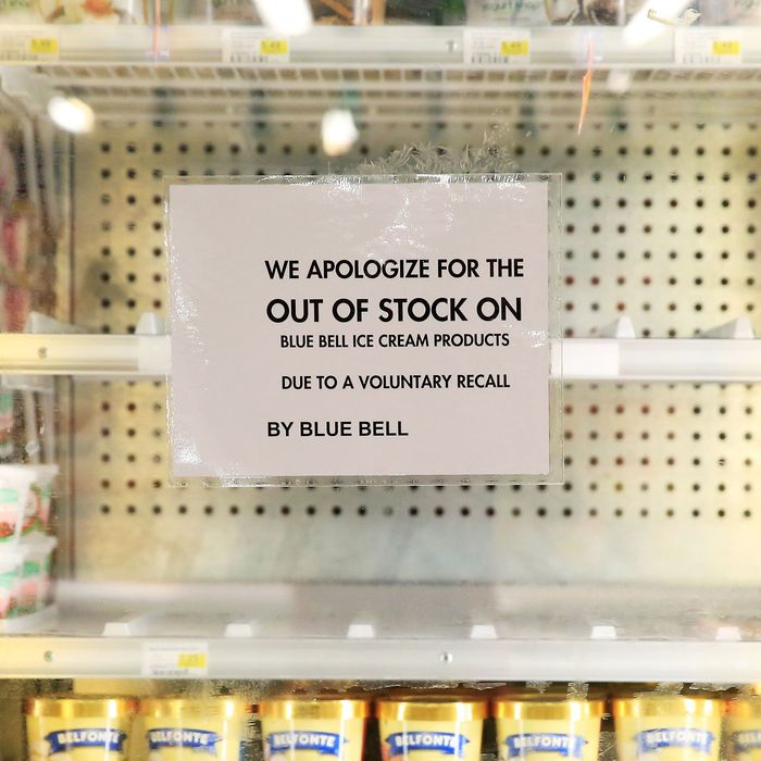 Blue Bell issued a total recall over listeria concerns.