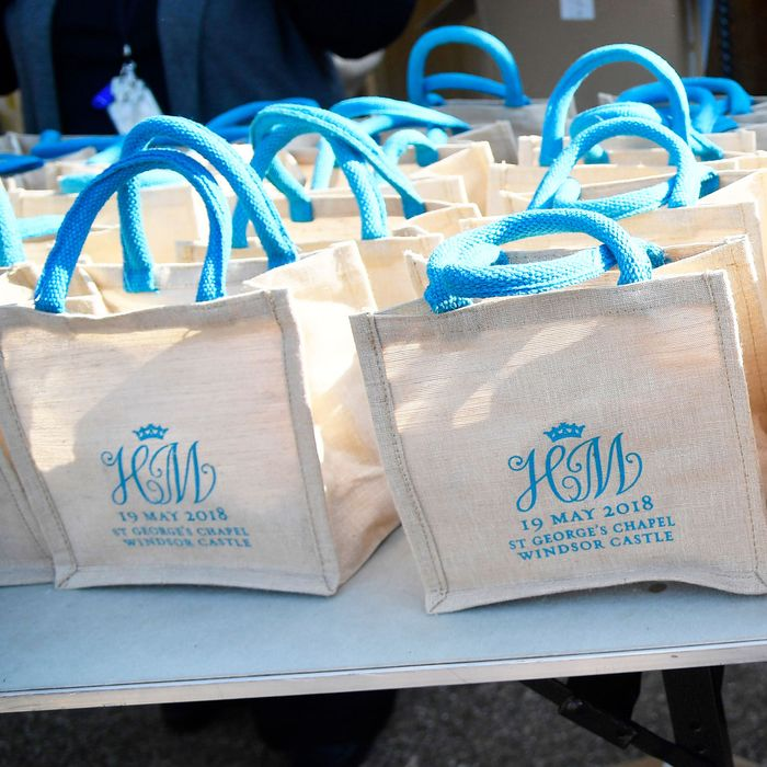 Royal wedding gift bags.
