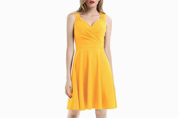 Grace Karin Vintage Sleeveless V-Neck Cocktail Dress