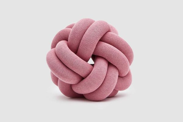 Design House Stockholm Knot Cushion in Pink