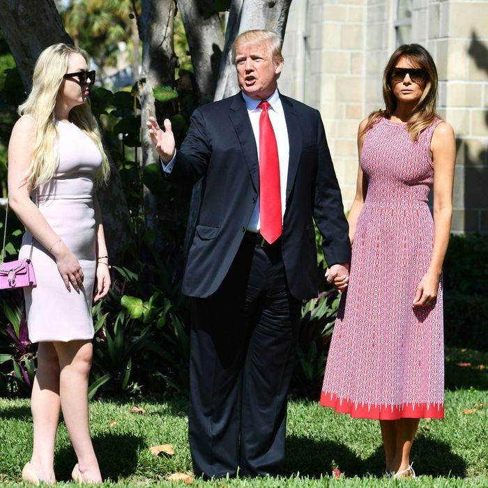 Tiffany, Donald, and Melania Trump.