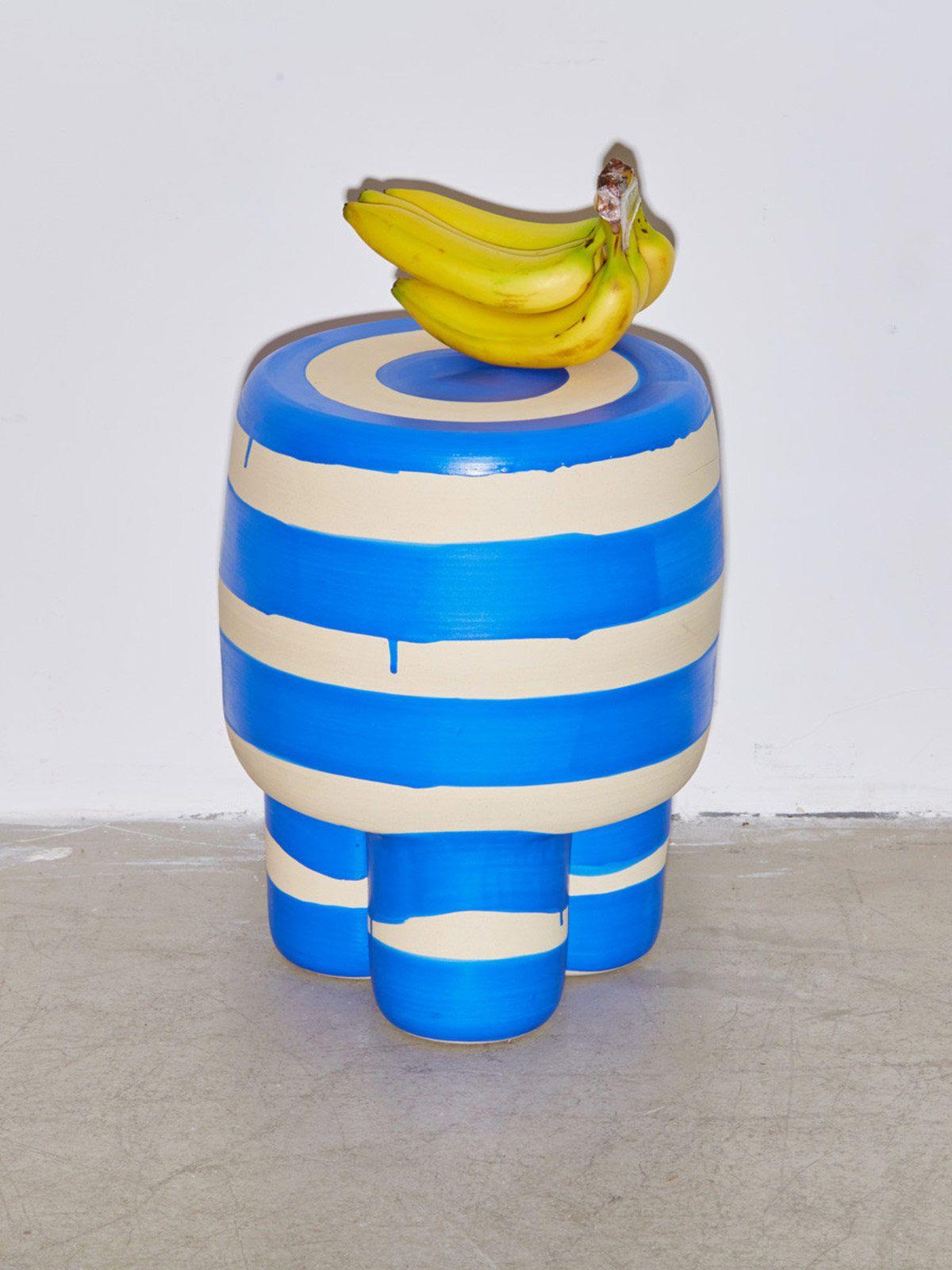 Workaday Handmade Blue Milking Stool
