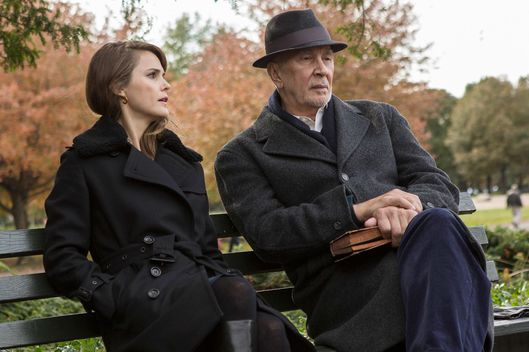 "THE AMERICANS -- ""Pastor Tim"" (Airs, Wednesday, March 23, 10:00 pm/ep) -- Pictured: (l-r) Keri Russell as Elizabeth Jennings, Frank Langella as Gabriel. CR: Eric Liebowitz/FX"