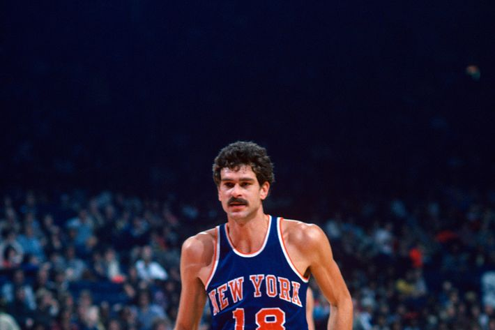 Phil Jackson #18 of the New York Knicks in action against the Washington Bullets during an NBA basketball game circa 1977 at the Capital Centre in Landover, Maryland. Jackson played for the Knicks from 1967-78.