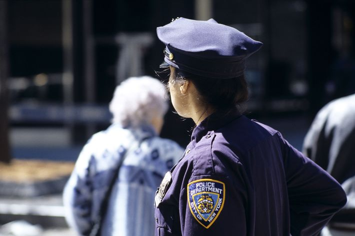 An NYPD officer.