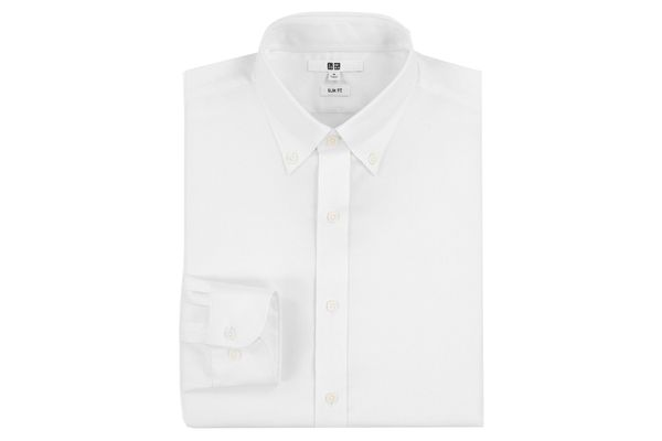 Uniqlo Men's Easy Care Stretch Slim-Fit Long-Sleeve Shirt