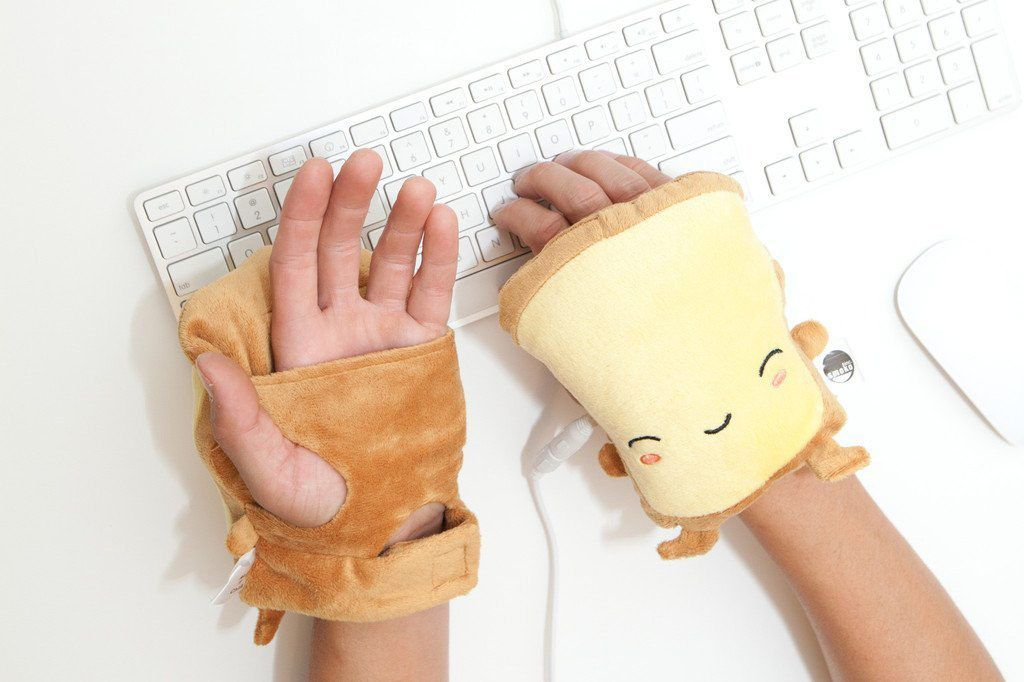 SMOKO Wearable Fingerless USB Powered Toast Hand Warmers