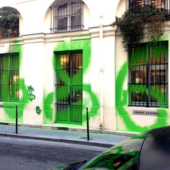 Marc Jacobs's Paris store.