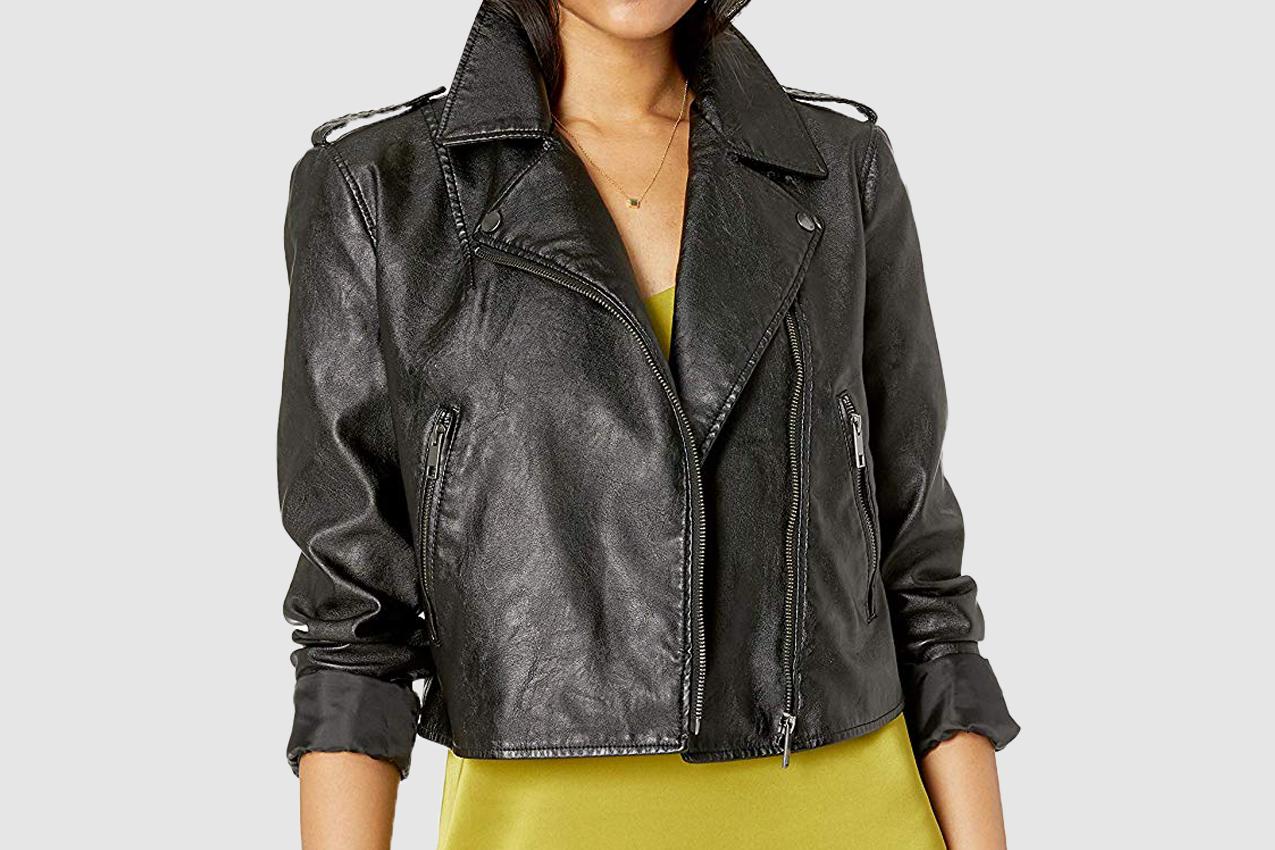 The Drop Women's Carmen Faux Leather Moto Jacket