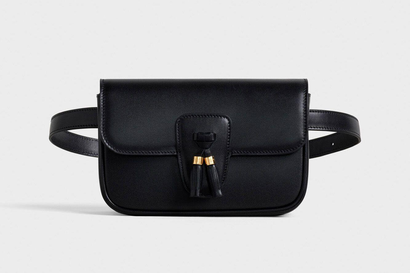 Celine Belt Bag Tassles In Shiny Calfskin