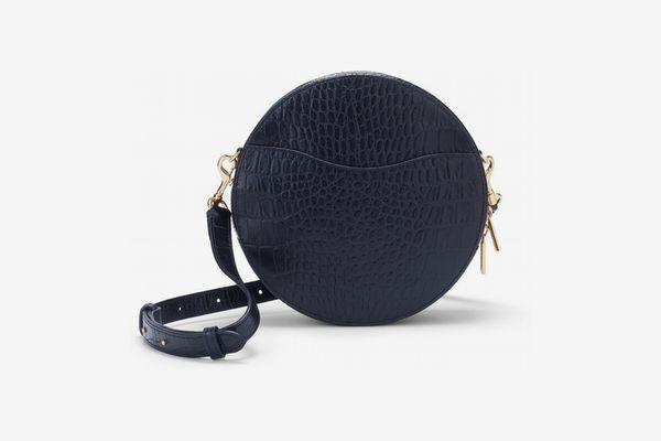 Cuyana Croc-Embossed Circle Crossbody Bag