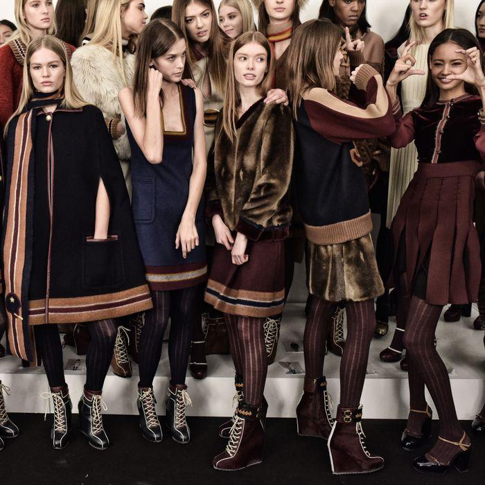 Models at Tommy Hilfiger.