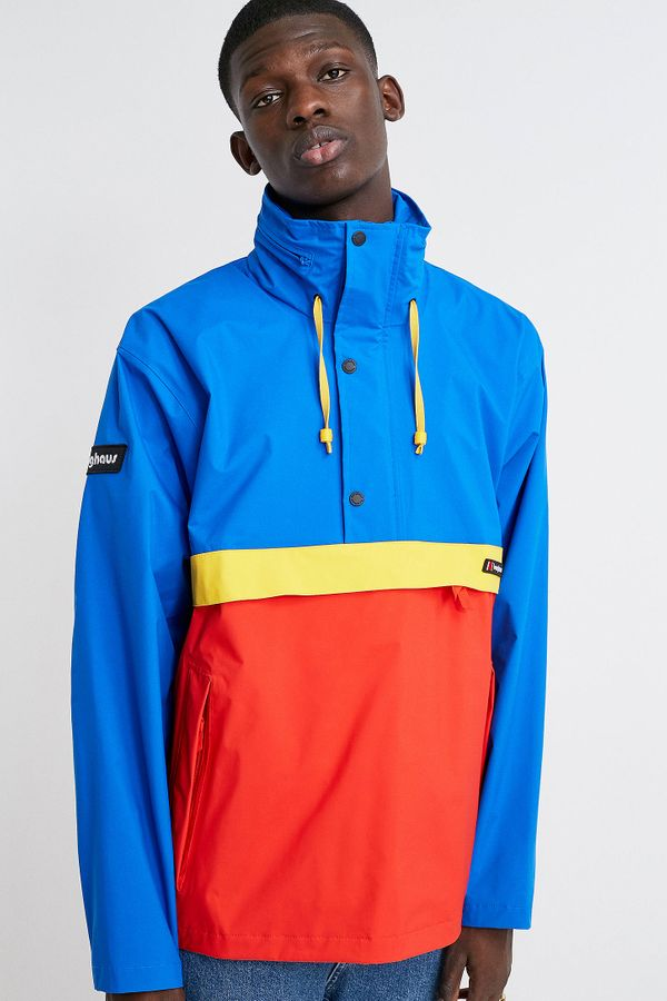 Berghaus Dean Street Blue, Red and Yellow Ski Popover Jacket