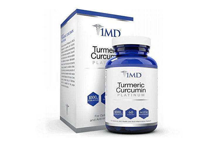 1MD Turmeric Curcumin Platinum, 60 Capsules