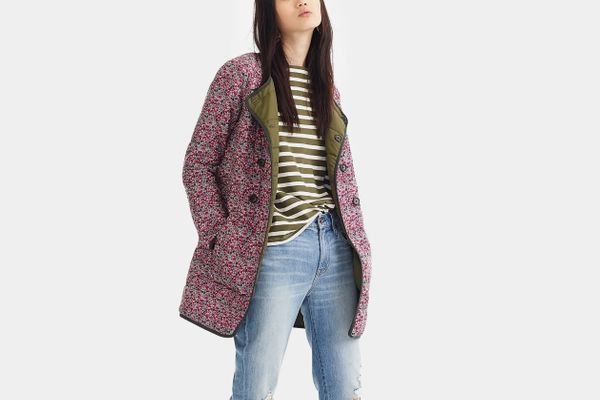 J.Crew Reversible Puffer Jacket in Liberty Floral