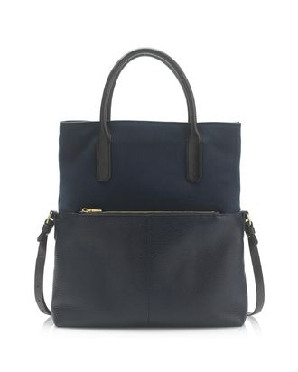 J.Crew s two-tone bag is basically a two-in-one  It can be worn as a hefty  tote aa83a501f3fb3