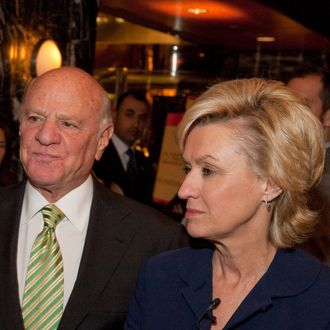 (L-R) Chelsea Clinton, Barry Diller and Tina Brown attend day 1 of the