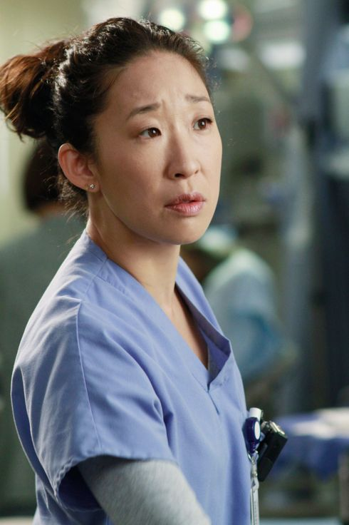 "GREY'S ANATOMY - ""She's Gone"" - In the second hour, ""She's Gone"" (10:00-11:00 p.m.), news of Meredith and Derek's unsteady relationship raises a red flag for Zola's adoption counselor; Alex quickly realizes that he has become the outcast of the group after ratting out Meredith; and Cristina makes a tough decision regarding her unexpected pregnancy. Also, Chief Webber brings Henry in for a last minute surgery, alarming Teddy. ""Grey's Anatomy"" returns for its eighth season with a two-hour event THURSDAY, SEPTEMBER 22 (9:00-11:00 p.m., ET) on the ABC Television Network. (ABC/RON TOM) SANDRA OH"