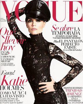 Katie Holmes, wearing Lanvin.