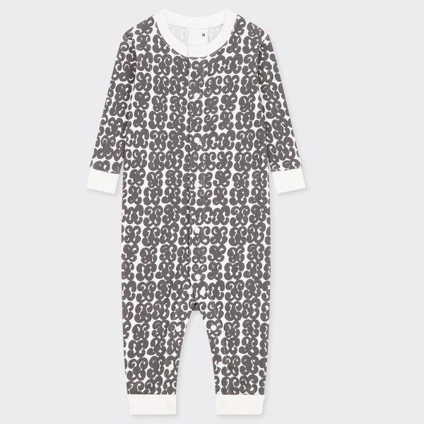 Uniqlo Newborn Ribbed Long-Sleeve One-Piece Outfit (Marimekko)