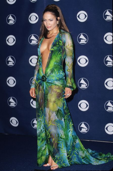 Photo 12 from J.Lo's Green Versace Dress