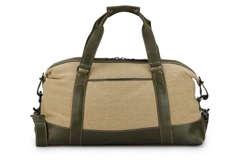 John Varvatos Tahoe Canvas & Leather Weekender