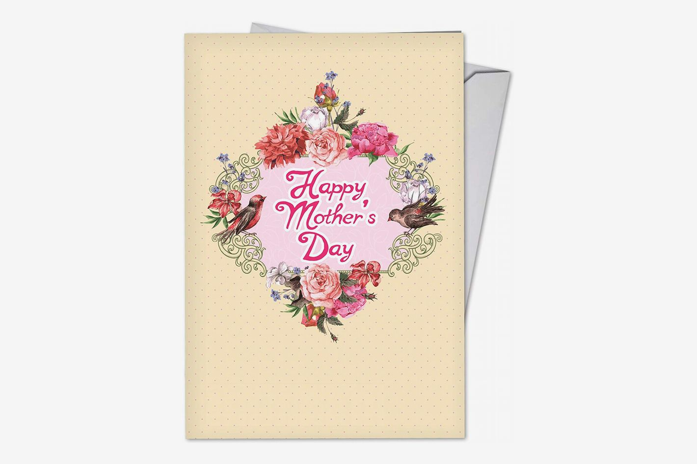 Birds and Blossoms Happy Mother's Day Note Card