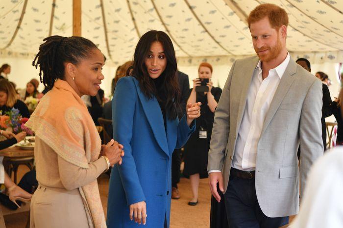 Doria Ragland, Meghan Markle, and Prince Harry.