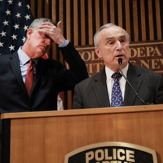 NYC Mayor And Police Commissioner Discuss Terrorism Preparedness