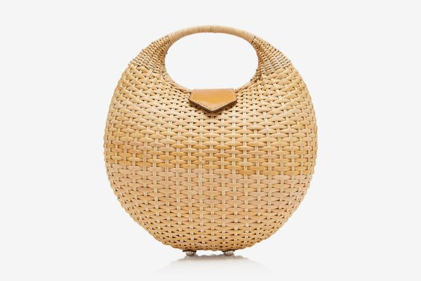 Kayu Elena Wicker Top Handle Bag