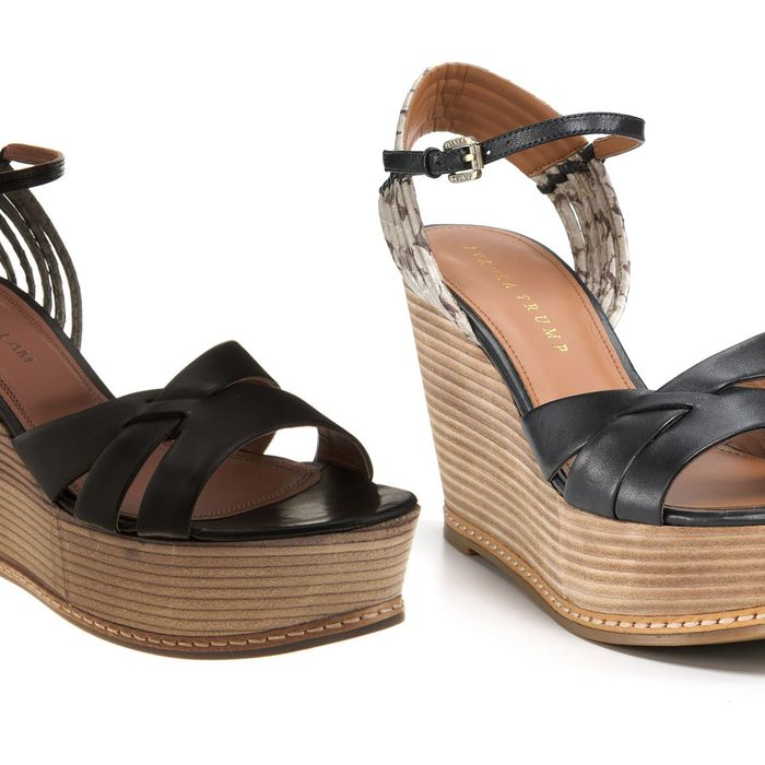 Derek Lam's Ayami sandal (left) and Ivanka Trump's Cadie sandal (right).