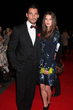 David Gandy and Guest attend The Collars & Coats Gala Ball 2012 at Battersea Evolution on November 8, 2012 in London, England.
