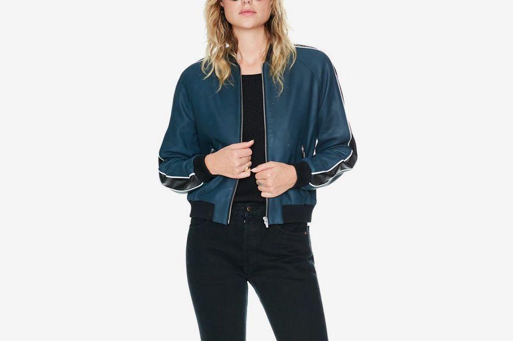Champion Leather Bomber Jacket