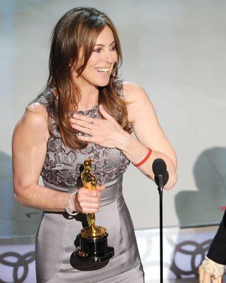 Kathryn Bigelow winning the Best Director Oscar for <i>The Hurt Locker</i> in 2010.