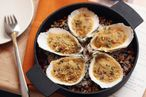 Narcissa's baked oysters come with truffle-bonito butter.