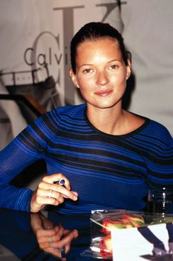 Kate Moss signing autographs at NYC Bloomingdales, September 19th 1996.